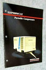 New Vintage 1990 Ingersoll Rand Portable Compressor Xhp900wcat Brochure Free Sh