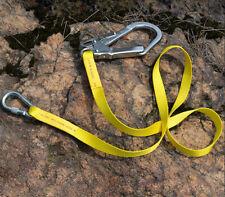 Outdoor Climbing Safety Harness Belt Lanyard w/ Carabiner Buckle