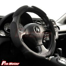 New Black Steering Wheel Cover Protector Hand Pad Buffer Cushion Leather Slip-On