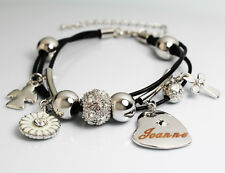White Gold Charm Name JOANNE Bracelet Birthday Christmas Easter Gifts For Her