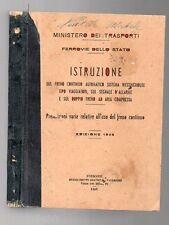 ISTRUZIONE SUL FRENO CONTINUO AUTOMATICO WESTINGHOUSE 1946