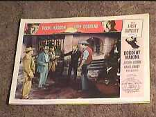 LAST SUNSET 1961 LOBBY CARD #1 WESTERN