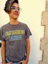 Chattahoochee Lacrosse Brown Cotton Size M T-Shirt