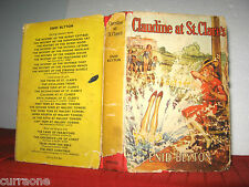 Enid Blyton CLAUDINE AT ST CLARE'S 1953 HCDJ illus by  W LINDSAY CABLE