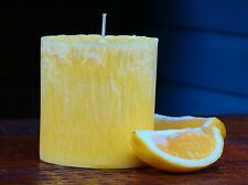90hr LEMON SCENTED TEA TREE Essential Oil Oval CANDLE Coconut Wax Cotton Wicks