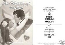 Spider-Man WEDDING INVITATION 1987 Vintage SCARCE Marvel Comics Promotional Adv