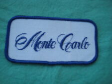 """Vintage     Chevrolet Monte Carlo  Patch Sew On 4"""" X 2"""""""