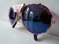 Kultige UVEX sportstyle 80´s vintage Gletscherbrille Sonnenbrille Damen Neon neu