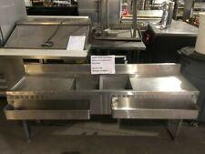 Commercial Ss Bar Sink W/ Drainboards & Speed Racks