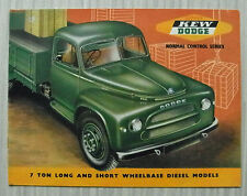Kew dodge contrôle normal série 7 tonne camions sales brochure july 1956 #105/7/56