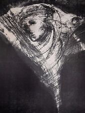 "California School Print Titled ""Turning Dream"" # 3/10 by Jean Krasno 20th c."