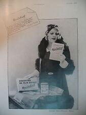 PUBLICITE DE PRESSE HEUDEBERT BISCOTTE DE PAIN GRILLE FRENCH AD 1931