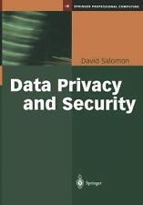 Data Privacy and Security by David Salomon (2011, Paperback)