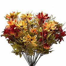 Mixed Autumn Artificial Daisy Floral Bush for Indoor Arranging and Decorating
