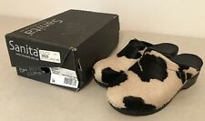 Sanita Professional Black Cow Furry Safari Clogs US Size 8.5