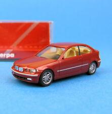 Herpa h0 033015 BMW 3er COUPE ROSSO METALLIZZATO AUTO OVP ho 1:87 BOX