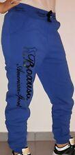 Damen Fitness Fleece Training Sport Jogginghose Freizeithose Blau Neu Gr S/36