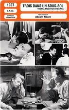 FICHE CINEMA : TROIS DANS UN SOUS-SOL - Batalov,Semyonova,Room 1927 Bed And Sofa