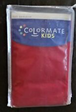 "BED SKIRT Tailored Bedskirt 15"" Drop Full Solid RED NEW 54""X75""  was $29.99 c B"
