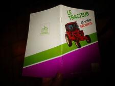 Livret Code de la Route Prévention Rurale LE TRACTEUR ET VOTRE SECURITE 1977