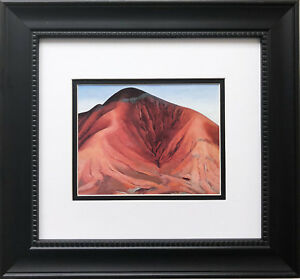 "Georgia O'Keeffe ""Small Purple Hills""  American Art Print Custom Framed New"