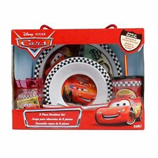 Cars 6 Piece Mealtime Dinnerware Set,Plate,Bowl,Fork&Spoon,Sports Sip Cup-New!