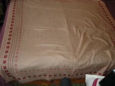 #076 Beautiful Vintage Hand-Embroidered Big Tablecloth 59''/55'&# 039;(150cm/140cm)