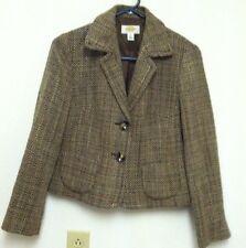 Talbots Womens Herringbone Long Sleeve Lined Wool Blend Size 4 Jacket Petites