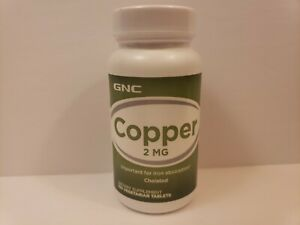 GNC COPPER 2 MG 100 Vegetarian Tablets - EXP 08/21