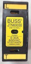 Cooper Bussmann JTN60030 Fuseholder; Class J Fuses; 0-30A; 600 Vac (2 Pcs)
