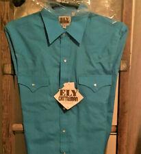 Ely Cattleman Men's Western Shirt Long Sleeve Sky Blue