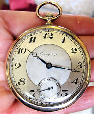 1930s Gents Swiss RG Grosvenor 15J Mech Pocket Watch with Sub Dial Serviced