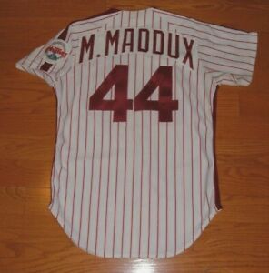 PHILADELPHIA PHILLIES MIKE MADDUX GAME WORN USED 1986 ROOKIE JERSEY (CARDINALS)