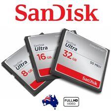 Sandisk CF Ultra 32GB 16GB 8GB Compact Flash DSLR Memory Card Full HD 50Mb/s