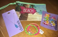 Claire's Summer Jewelry Hair Cosm Bag Flip Flop Beach Easter Lot Nwt
