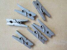 Silver Wood Pins, 12PCS Mini Clothespins, Wood Clips, Party Supplies