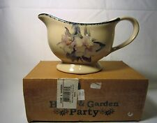 Home and Garden Party Magnolia Pottery Stoneware Gravy Boat EUC