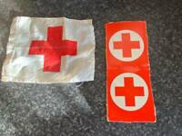 VINTAGE PALITOY/HASBRO ACTION MAN RED CROSS FLAG AND SIGN GOOD CONDITION