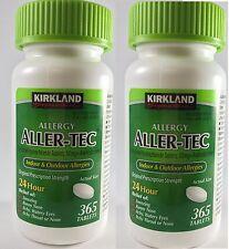Kirkland Aller-Tec Allergy 10mg Cetirizine HCI Antihistamine 365 Tablet x 2