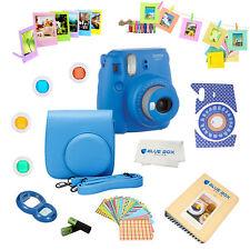 Fujifilm Instax Mini 9 Camera Cobalt Blue + 15 PC Accessory kit for fuji mini 9
