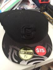 North Carolina State New Era 5950 Cap / Hat NWT 7 1/4 Fitted Flat Bill Wolfpack