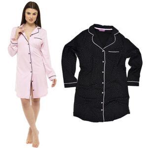NEW Ladies Cotton ' Foxbury' Nightshirt Nightwear