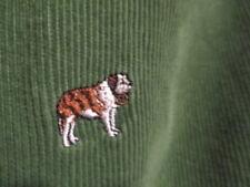 J. Crew=Men'S 30 X 32=Green Corduroy Embroidered W/ St. Bernard Pants=L@K