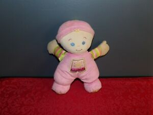 """Fisher Price 2008 PINK Baby's 1st First 10"""" Doll Plush w/ Rattle (*50)"""