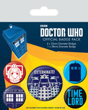 Doctor Who Ansteck-buttons 5er-pack Exterminate (neu)
