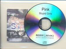 PINK VERY RARE Stupid Girls Australian 1Trk PROMO ONLY CD Single
