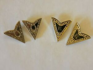 Vintage Western Design Collar Point Clips/Corners - Lot of 2