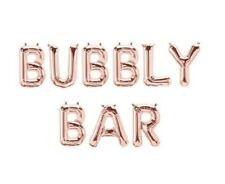 """BUBBLY BAR Letter Balloons - Bubbly Bar Sign - 16"""" Rose Gold Letters - US SHIP"""