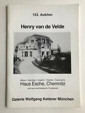 Henry van de Velde Haus Esche,  Henry van de Velde, Architektur,