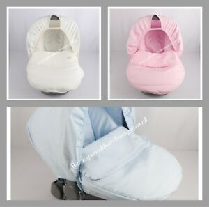 Spanish baby car seat cover set with hood Romany